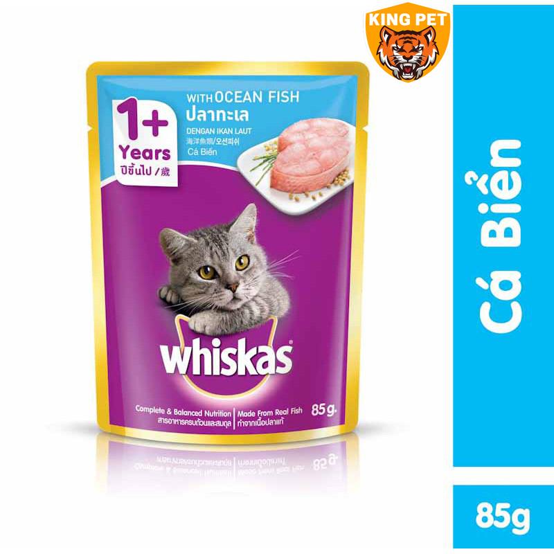 Pate Cho Mèo Lớn Whiskas 85Gr Đủ Vị Bổ Dưỡng Giúp Sáng Mắt, Mượt Lông, Chắc Xương