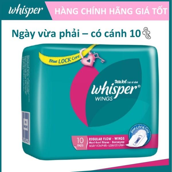 Băng vệ sinh Whisper Cánh dày ngày 10 miếng