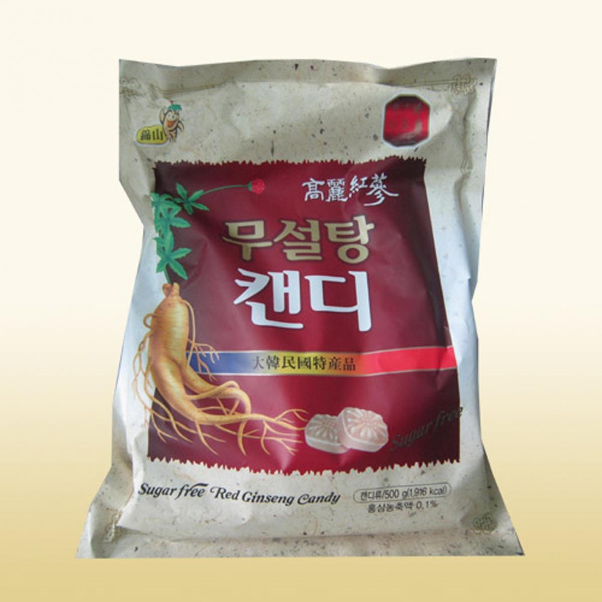Kẹo Sâm Không Đường Hàn Quốc túi 500g