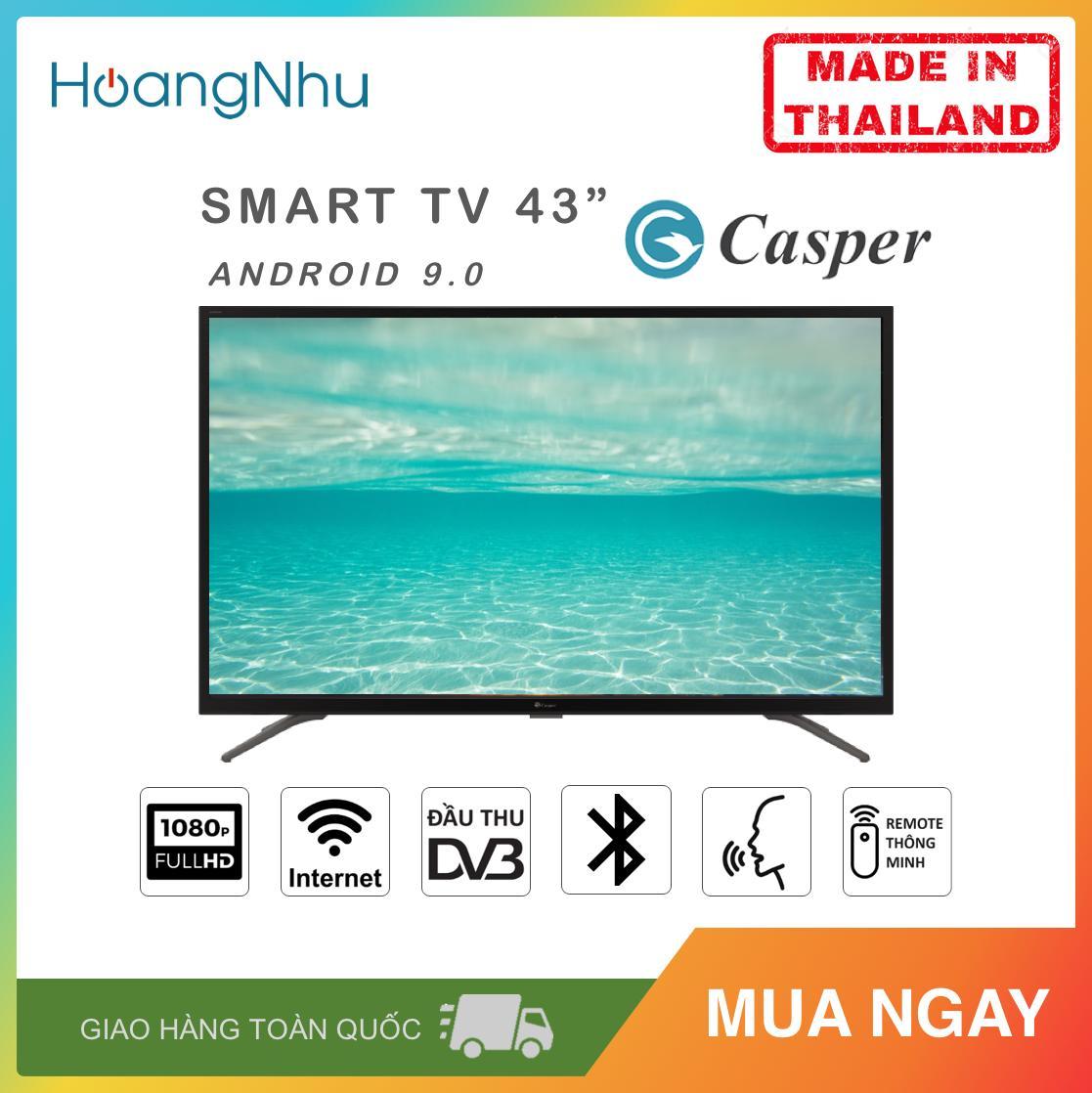 Bảng giá Smart Voice Tivi Casper 43 inch Kết nối Internet Wifi 43FG5000 (Full HD, Android 9.0, Điều khiển giọng nói, Bluetooth, Truyền hình KTS, màu đen) - Hàng Thái Lan - Bảo hành toàn quốc 2 năm Điện máy Pico