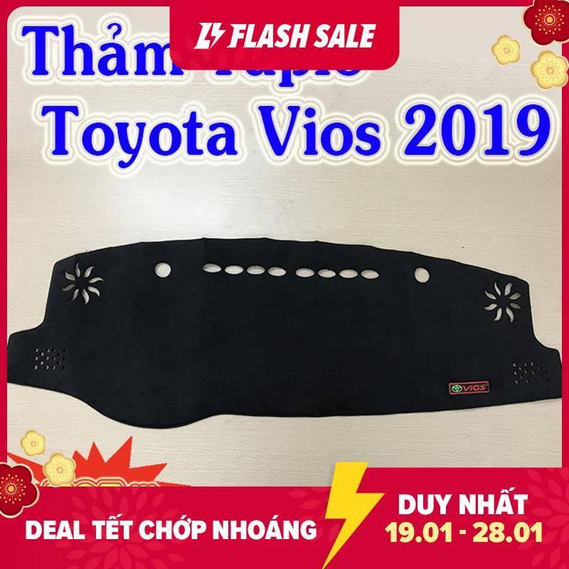 Thảm Taplo Xe Toyota Vios 2019 2020 Mẫu Nhung Lông Cừu Cao Cấp Có Đế Chống Trượt Giúp Che Nắng Taplo, Chống Nứt Bạc Màu Taplo, Chống Lóa Mắt Và Tăng Thẩm Mỹ Cho Xe