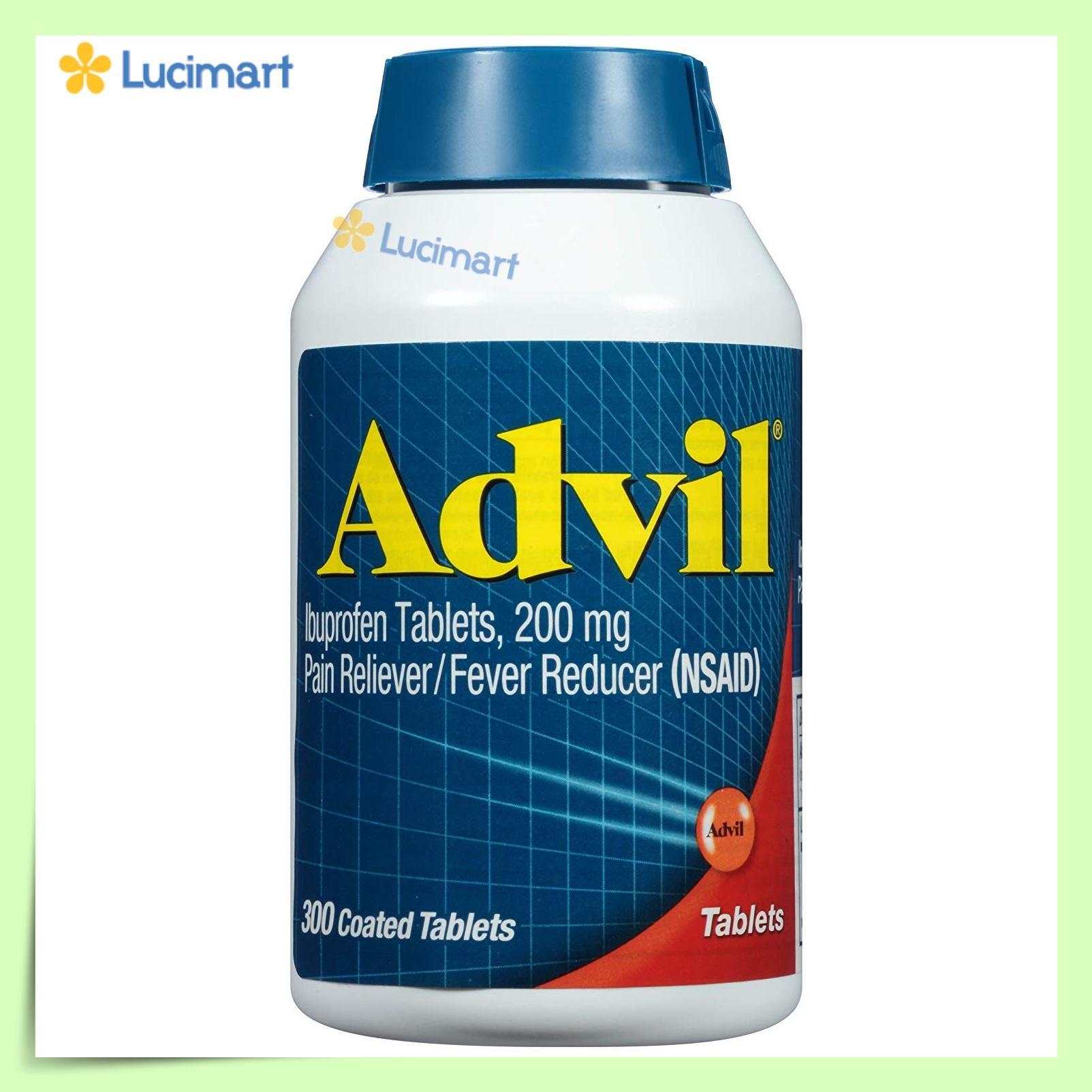 Viên uống giảm đau, hạ sốt của Mỹ, Advil 200mg 360 viên (hạn dùng 2022) cao cấp
