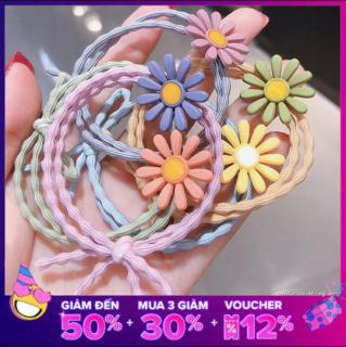 [GIÁ 1k] Dây buộc tóc đẹp hoa cúc nhiều màu sắc giá rẻ Lilyy thumbnail