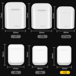Tai nghe bluetooth không dây i12 TWS5.0, thiết kế nhỏ gọn, chất lượng âm thanh nổi HIFI, chức năng giảm tạp âm - Tai nghe không dây i12, Tai nghe bluetooth không dây 3