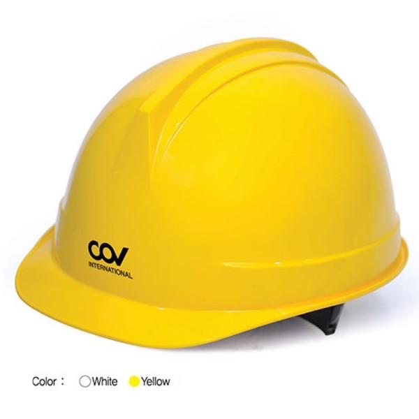Mũ Bảo Hộ Lao Động - COV - Hàn Quốc - Trắng/Vàng (Chính Hãng)