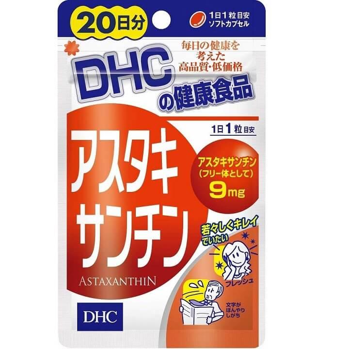 Viên uống chống lão hóa Astaxanthin DHC 20 ngày hàng nội địa Nhật Bản