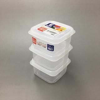 SET 3 HỘP VUÔNG NHỎ 200ML ĐỰNG THỰC PHẨM NAKAYA - HÀNG NỘI ĐỊA NHẬT, dùng được trong lò vi sóng, làm từ nhựa PP cao cấp an toàn cho người sử dụng thumbnail