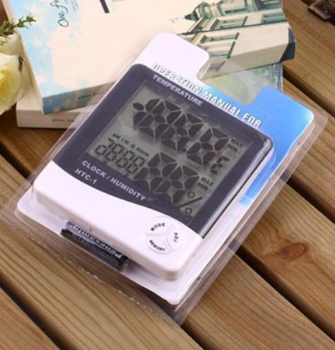 Nhiệt ẩm kế điện tử HTC-1 đo nhiệt độ độ ẩm trong nhà không dây chính xác cao để bàn , treo tường