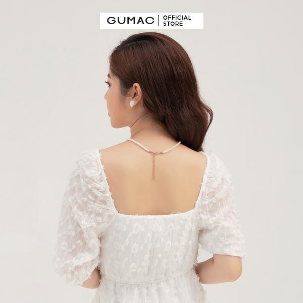 Nơi bán Váy đầm nữ đẹp thiết kế cổ vuông quyến rũ dáng babydoll nhún eo trẻ trung thời trang GUMAC mẫu mới DB3101 chất liệu Tơ cao cấp thoải mái
