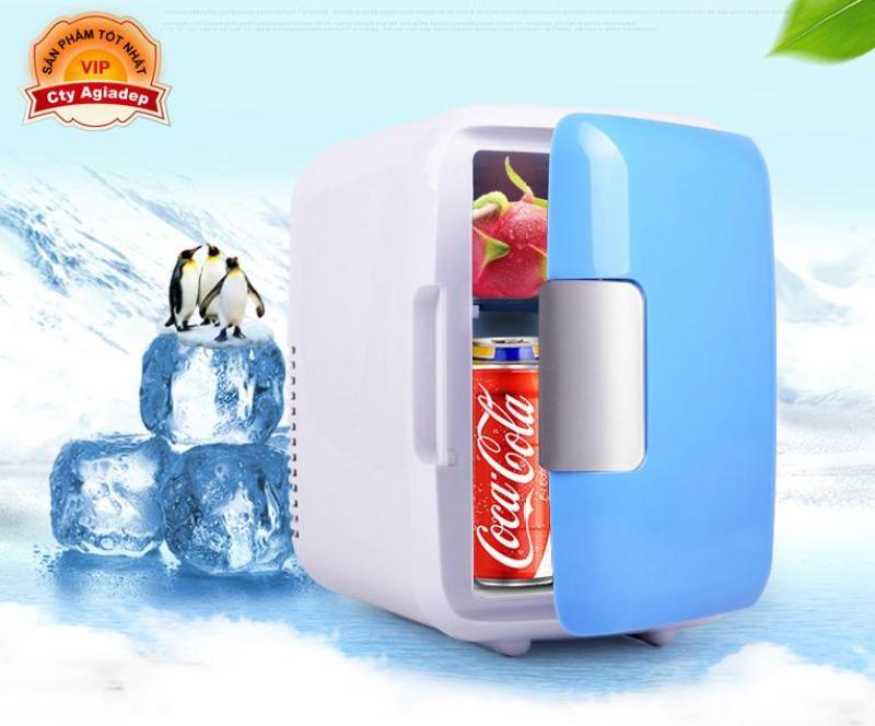 Tủ lạnh mini oto xe hơi 4L (dùng được cả trong nhà) 2 chiều nóng lạnh - Trữ sữa mỹ phẩm v.v.