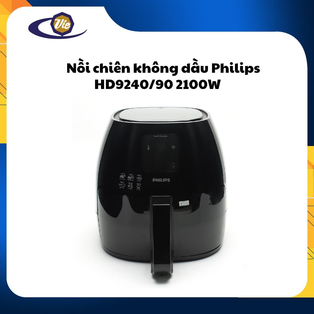 Nồi chiên không dầu Philips HD9240/90 2100W (Đen)