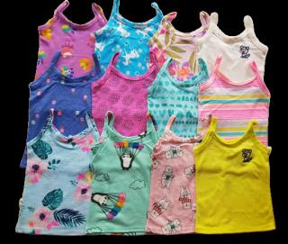 áo hai dây bé gái - Áo vải coton xuất dư siêu mềm mịn hoa văn đang yêu cho bé gái size 1-7 từ 07 - 40kg - áo dây siêu đẹp, mát
