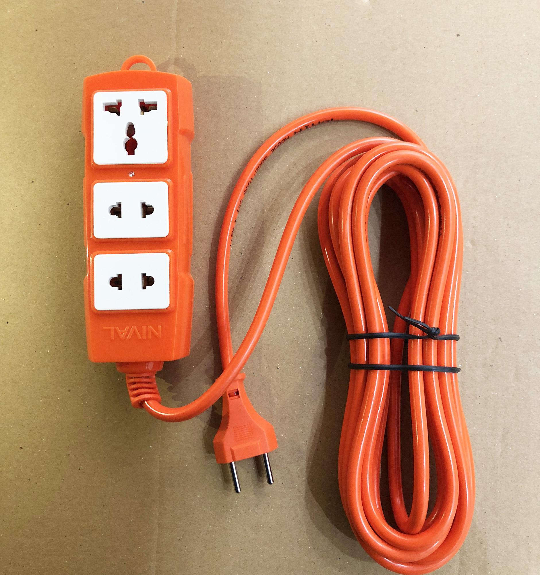 Ổ cắm điện chống cháy chịu nhiệt 3000W lõi sứ cao cấp dây 5M