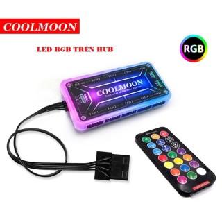 QUẠT VÀ DÂY LED RGB COOLMOON V2 ĐỒNG BỘ ĐIỀU KHIỂN thumbnail