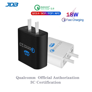 JDB Fast Charger 18w USB Charger Phone adapter iphone 12 pro 12 mini 11 pro max For Xiaomi Huawei Cellphone Fast Charging USB Wall Phone Charger For Realme Samsung s10 for oppo f11 pro vivo Poco X3 Huawei Charger for Android Multi Plug thumbnail