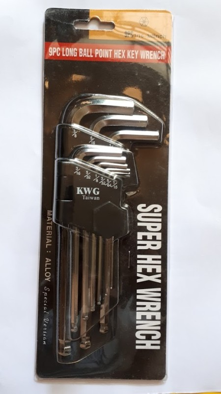 Bộ lục giác đầu bi hệ inch 9 chi tiết KWG thương hiệu Đức - 5120-9NSP