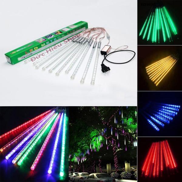 [ VIDEO ] Đèn sao băng 50cm chùm 8 ống, đèn chớp nháy đủ màu trang trí noel giáng sinh | Đức Hiếu Shop
