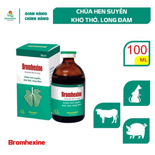 Vemedim Bromhexine Chữa hen suyễn, khó thở, long đàm cho chó và gia súc, chai 100ml