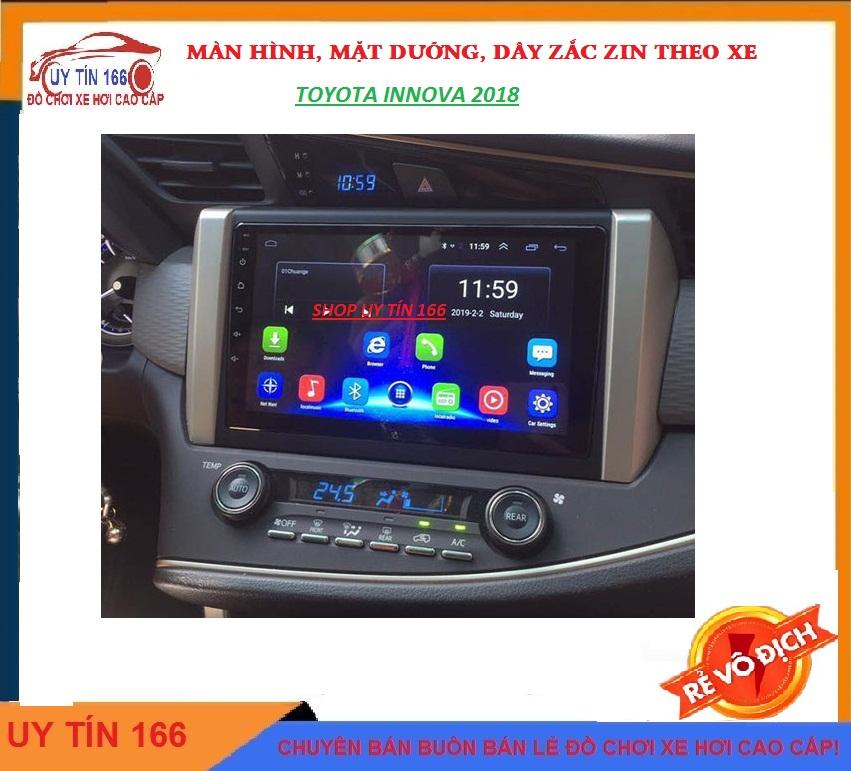 [Hỗ Trợ Lắp Đặt] Bộ màn hình xe innova 2017-2019 kết nối wifi hoặc lắp sim 4G, RAM 2G ROM 32G hoặc ram 1g rom 16g android 10. wifi, điều khiển giọng nói, tích hợp vô lăng, xem camera lùi,màn hình cho xe innova