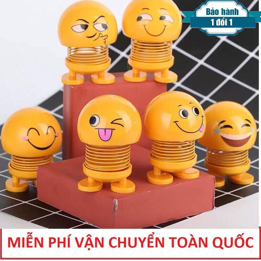 [Combo 6 Ông Pê Lắc - Vận Chuyển Miễn Phí ] Lật Đật Icon Emoji Lò Xo Nhún Đồ Chơi Xả Stress - Lật Đật Icon Lò Xo Để Xe Ô Tô Vui Nhộn - Cục Xì Ngầu Là Ông Bê Lắc - Ông Bê Lắc - Thú Nhún Emoji