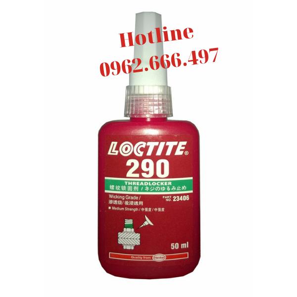 Loctite 290- Keo khóa ren cho bulông, ốc vít - chai 50ml