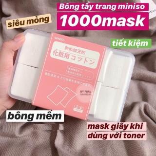 Hộp Bông tẩy trang Miniso Nhật Bản 1000 miếng thumbnail