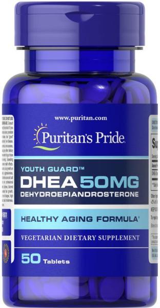 nội tiết tương cường sức khỏe cho người cao tuổi (HSD: 30/10/2021), tăng cường sinh lực nam nữ DHEA 50mg 50 viên của Puritans Pride giá rẻ