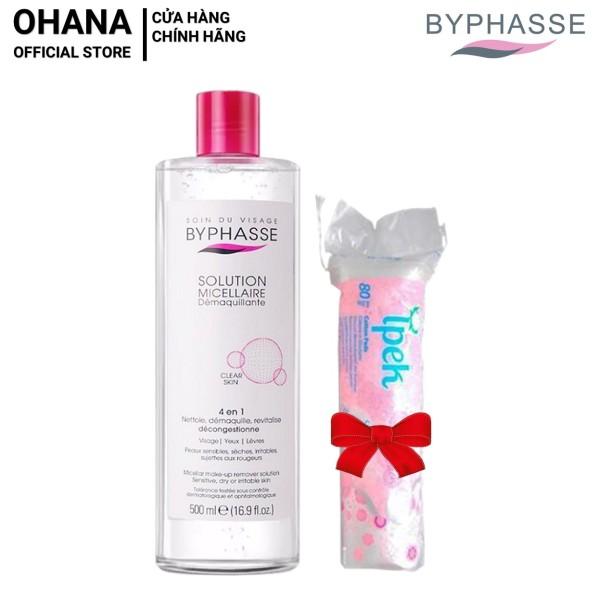[Tặng Bông] Nước Tẩy Trang Byphasse Micellar Make-up Remover Solution 500ml