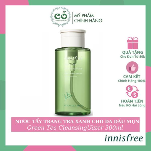 Nước Tẩy Trang Tà ?Trà Xanh Cho Da Dầu Mụn Innisfree Green Tea Cleansing Water 300ml