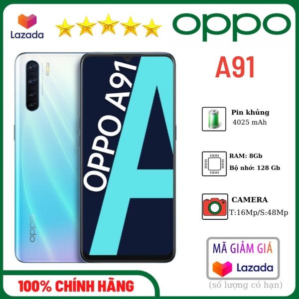 Điện thoại OPPO A91-Ram 8- Bộ nhớ 128Gb-camera 48Mp- pin trâu 4000mAh-có sạc nhanh- Chính hãng