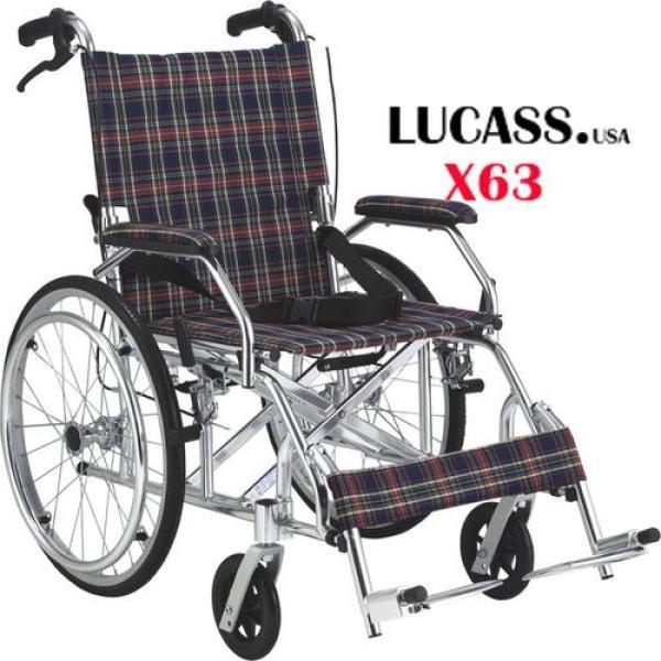 Xe lăn hợp kim nhôm siêu nhẹ Lucass X63L