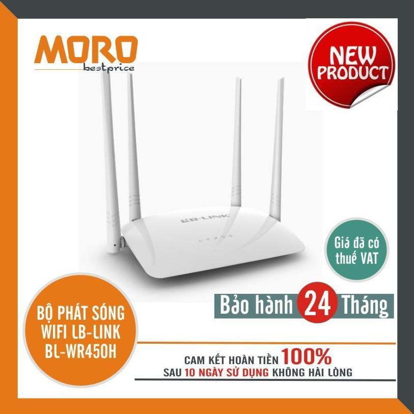 Bộ phát sóng wifi 4 râu cực mạnh LB-LINK BL-WR450H - Hàng chính hãng bảo hành 24 tháng!!!