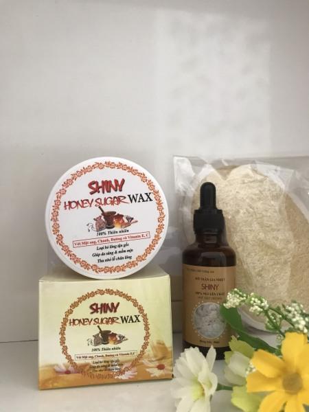 Combo Wax Lông MẬT ONG+Mỡ Trăn Handmade Shiny cao cấp