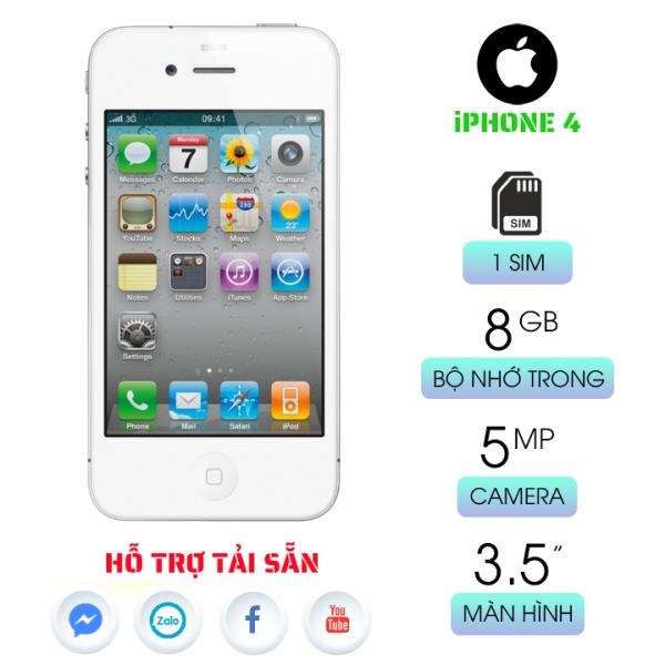 ip4 8GB quốc tế bảo hành 6 tháng tải sẵn nhiều ứng dụng