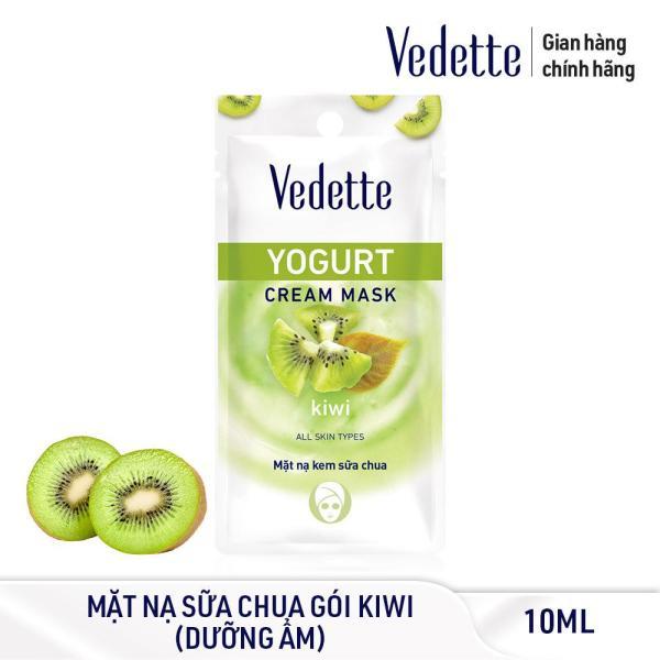Mặt Nạ Kem Sữa Chua Kiwi Dưỡng Ẩm Mịn Màng Vedette 10ml cao cấp