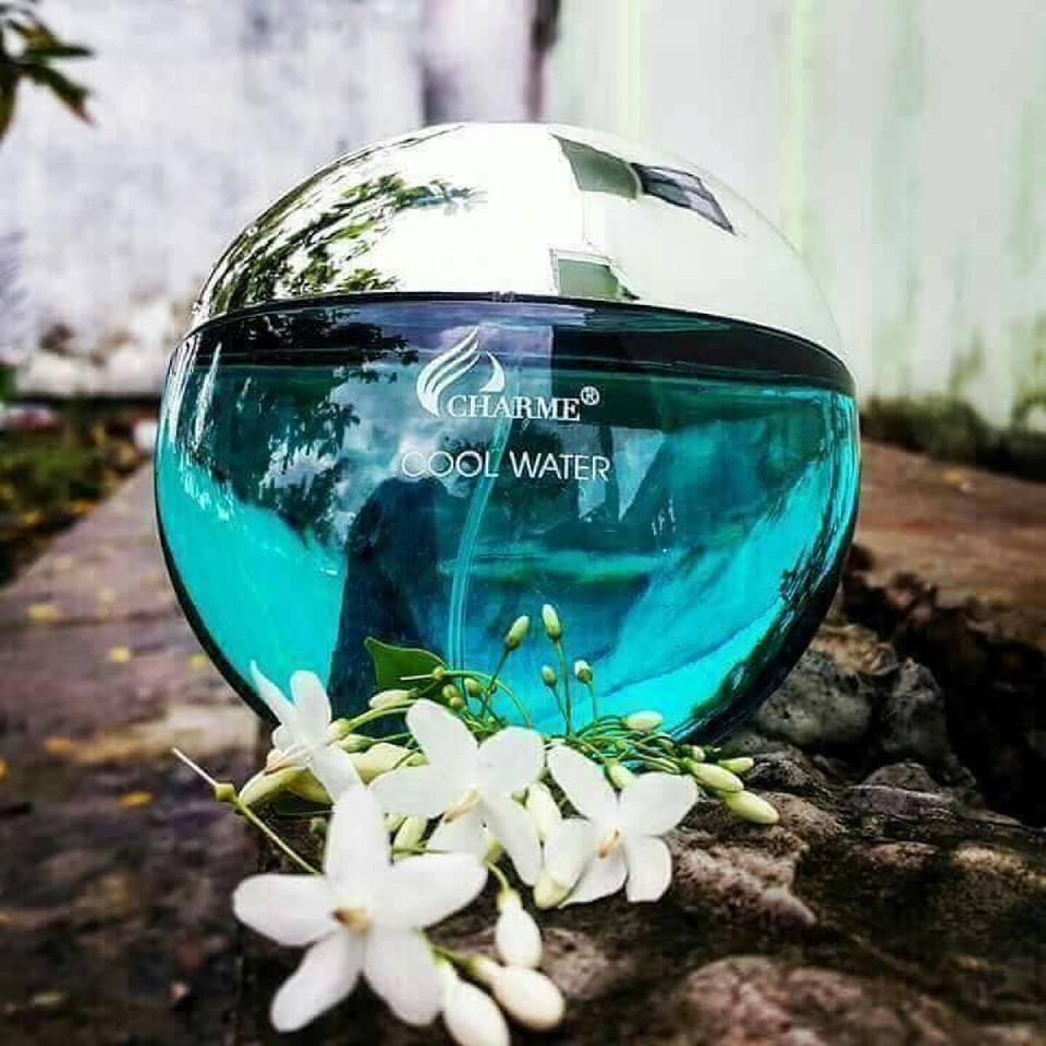 Nước hoa Nam Charme Cool Water (Eau De Parfurm) 50ml Nam tính, phóng khoáng, dễ chịu thanh mát, nhẹ nhàng