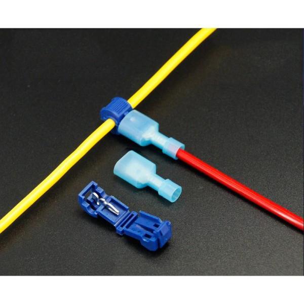 Combo 50 cút nối dây điện nhanh chữ T2 cho dây từ 1 - 2.5mm2