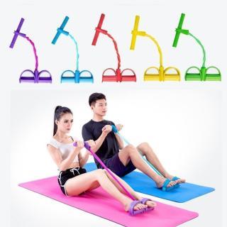 Dây kéo đàn hồi 4 ống cao su tập thể dục - tập gym tại nhà - thiết bị tập thể dục dây kéo - tập thể hình - tập toàn thân nâng cao sức khỏe - 4 ống cao su tự nhiên bàn đạp chân dây kéo đàn hồi có tay cầm 7