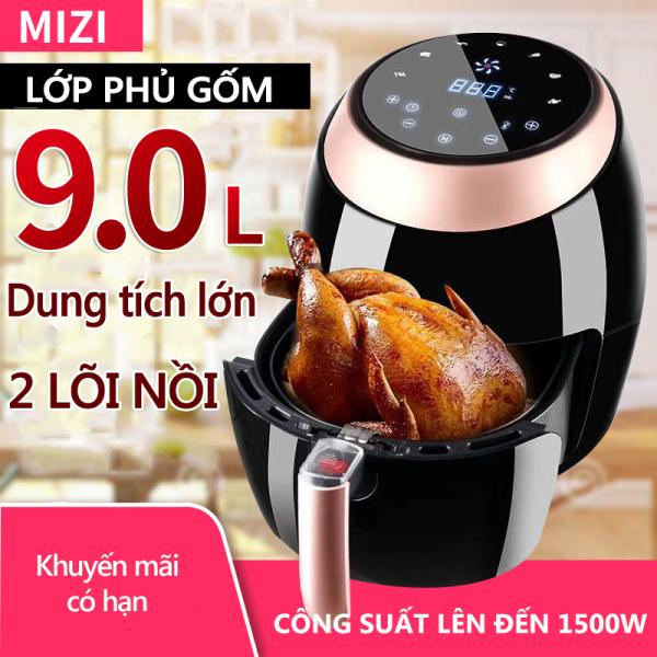 Nồi chiên không dầu MIZI 9 lít PD-1799A Đài Loan 220V công suất 1500W bảng điều khiển thông minh happy family