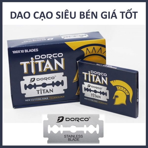 Hộp lưỡi lam Dorco Titan (100 lưỡi/hộp) siêu bén cao cấp