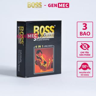 Bao Cao Su Gân Gai BOSS 4in1 Kéo dài thời gian quan hệ - BCS Boss Hộp 03 bao - GenMec thumbnail