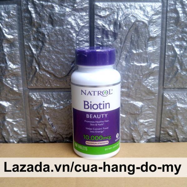 Viên Uống Natrol Biotin Maximum Strength biotin 10000 Mcg Mỹ 100 Viên Hỗ trợ mọc tóc, giúp tóc chắc khỏe giá rẻ