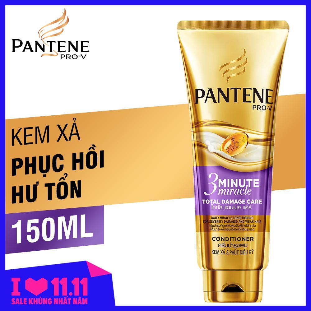 Kem Xả 3 Phút Diệu Kỳ Pantene Chăm Sóc Hư Tổn 150ML nhập khẩu