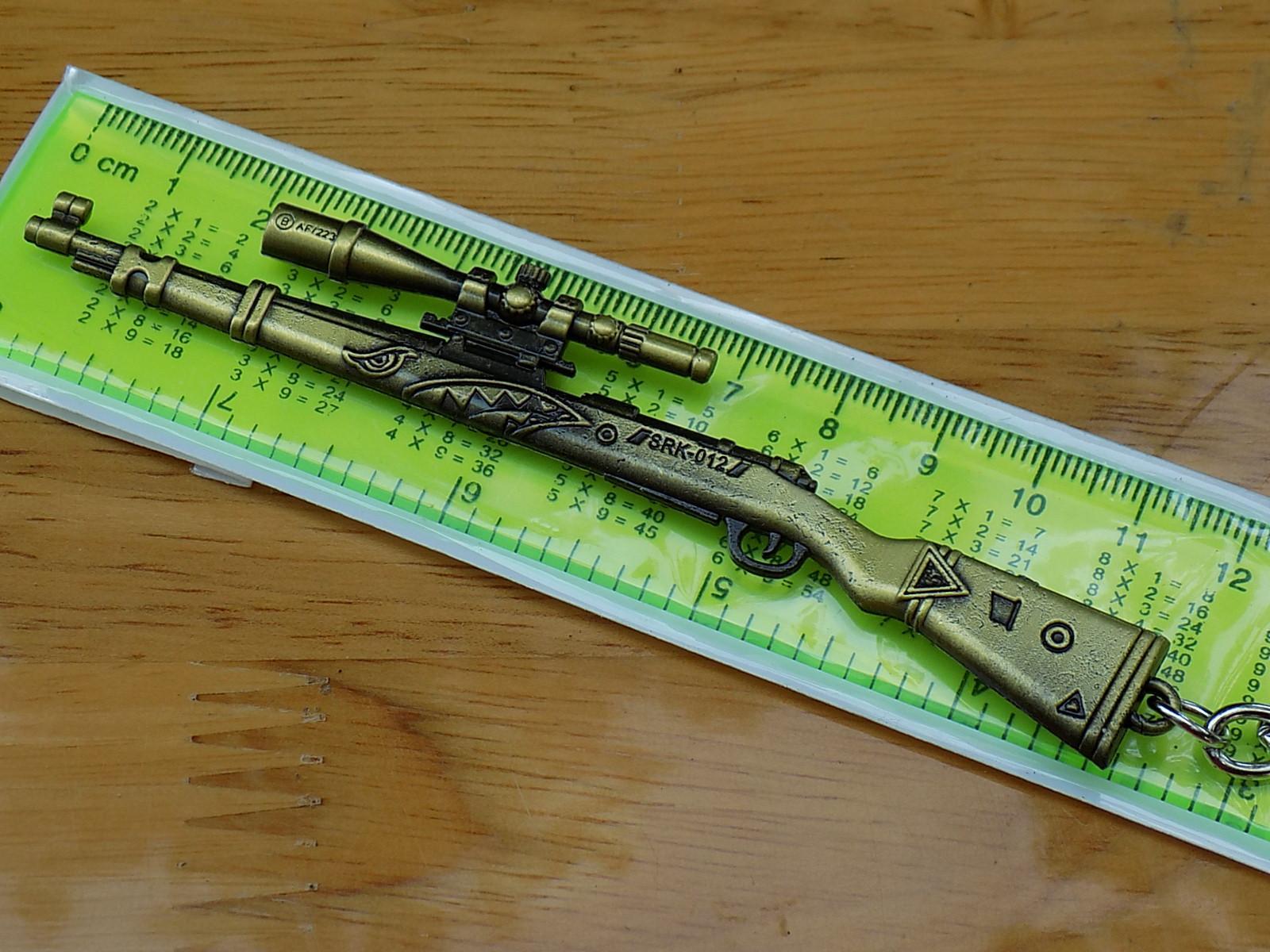 Móc khóa PUBG - K98 Cá Mập - Hình thật giá chất Nhật Bản