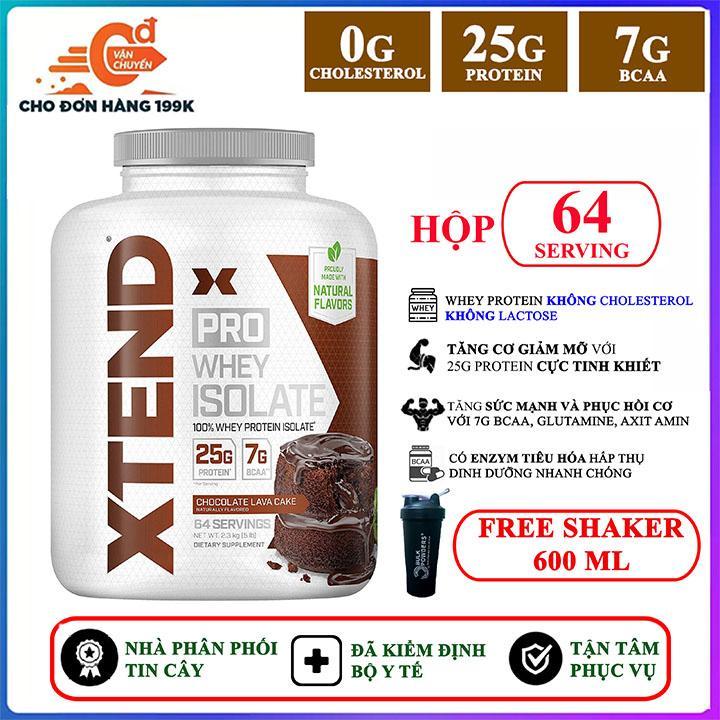 [FREE SHAKER] Sữa tăng cơ khủng Xtend Pro Whey Isolate của Xtend hỗ trợ tăng cơ giảm cân, giảm mỡ bụng, tăng sức bền sức mạnh vượt trội cho người tập Gym và chơi thể thao - thuc pham chuc nang nhập khẩu