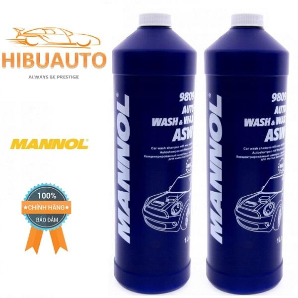Dung Dịch Rửa Xe Đậm Đặc MANNOL Auto Wasch & Wax 9809 1000ml – HIBU AUTO