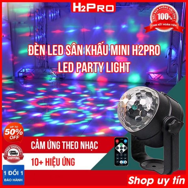 Đèn led sân khấu mini H2Pro Led Party Light cảm ứng âm thanh, đèn led sân khấu 9W giá rẻ