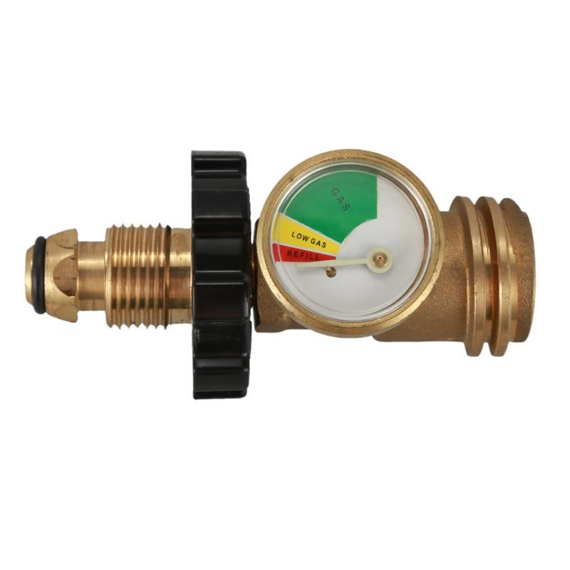 US overpressure and super flow leak detection automatically closes the propane tank pressure gauge cylinder adapter with protective cover