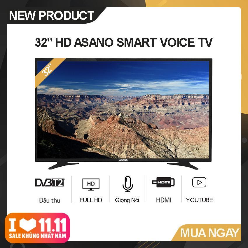 Bảng giá Smart Voice Tivi Asano 32 inch HD - Model 32EK3 (Đen) Hệ điều hành Android, Độ phân giải Full HD, Điều khiển giọng nói, Tích hợp DVB-T2 - Bảo Hành 2 Năm