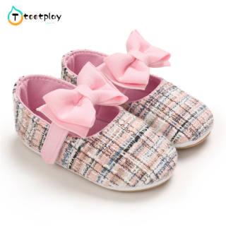 Tootplay 1 Đôi Giày Em Bé, Giày Trẻ Tập Đi Kẻ Sọc Nhiều Màu Bằng Cotton Cho Bé 3-12 Tháng Tuổi